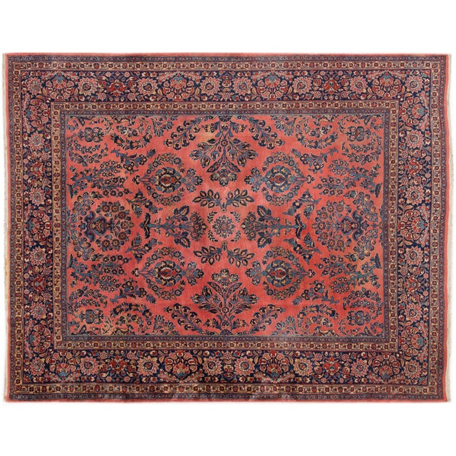 """Vintage Hand-Knotted Sarouk Rug - 8'1"""" X 10'4"""" - Image 1 of 4"""