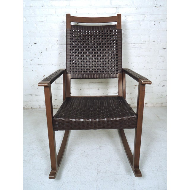 Mid Century Modern Style Rocker For Sale - Image 4 of 10