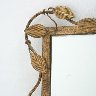 Mid-Century Rectangular Brass Leaf Mirror Preview