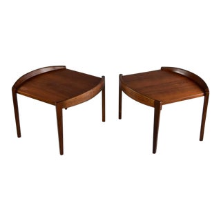 Jens Risom Barrel Edge Side Table - a Pair For Sale