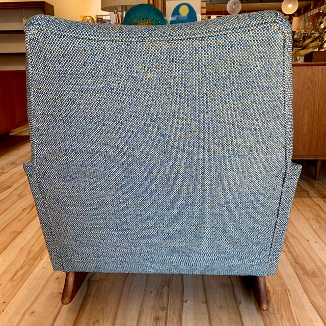 Vintage Mid-Century Adrian Pearsall for Craft Associates Rocking Chair For Sale In Sacramento - Image 6 of 11