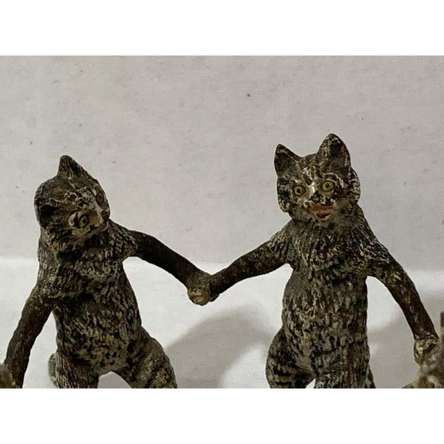 Vienna Cold Painted Bronze Dancing Cats, Attributed to Bergman For Sale - Image 10 of 11