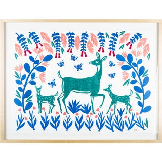 Stacey Elaine Deer and Fawns Collage For Sale