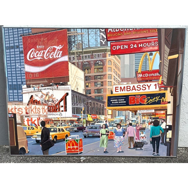 1987 Nyc- Times Square Pop Art Original Painting by Matthew Popielarz For Sale - Image 11 of 11