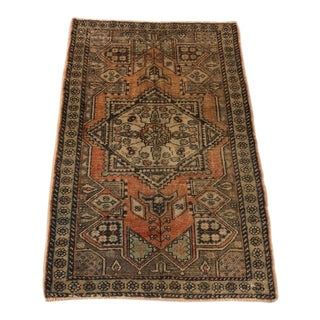 Handmade Turkish Bohemian Vintage Rug- 4′1″ × 6′ For Sale