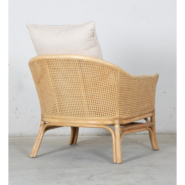 David Francis Rustic David Francis Rattan and Cane Calistoga Lounge Chair For Sale - Image 4 of 5