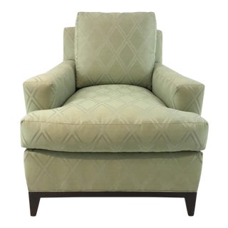 Transitional Hickory Chair 9th Street Light Green Club Chair For Sale