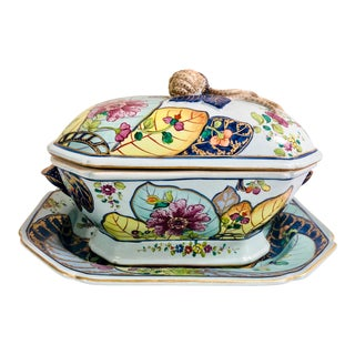 Italian Mottahedeh Tobacco Tureen For Sale