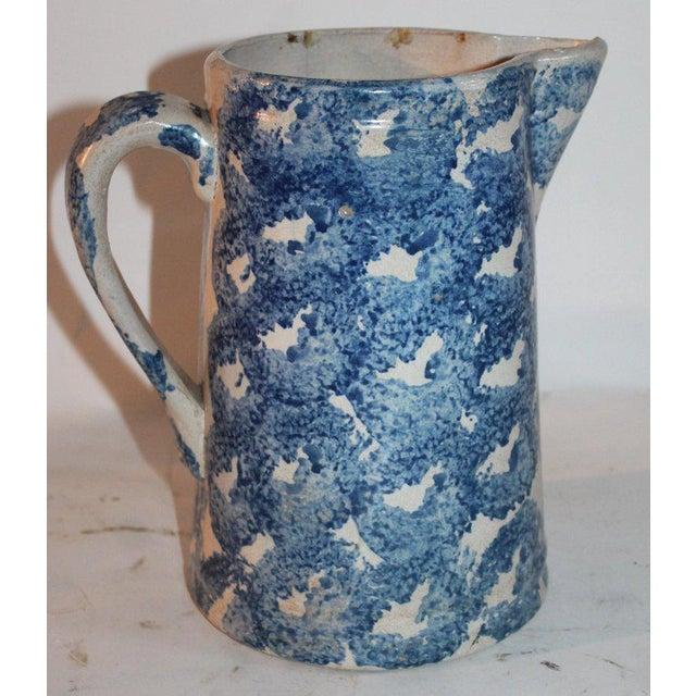 19th Century Design Sponge Ware Pitcher For Sale - Image 4 of 8