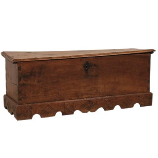 18th Century Spanish Wood Trunk For Sale