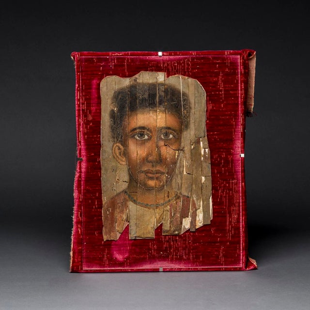 "Please update measurements. Although commonly referred to as ""faiyum portraits,"" mummy portraits from roman egypt have..."