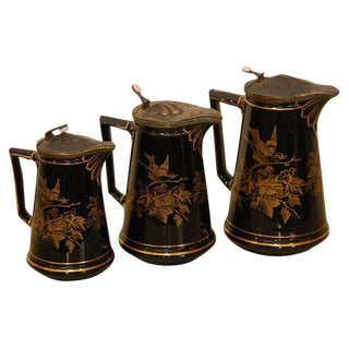 19th Century English Milk Pitchers - Set of 3 For Sale