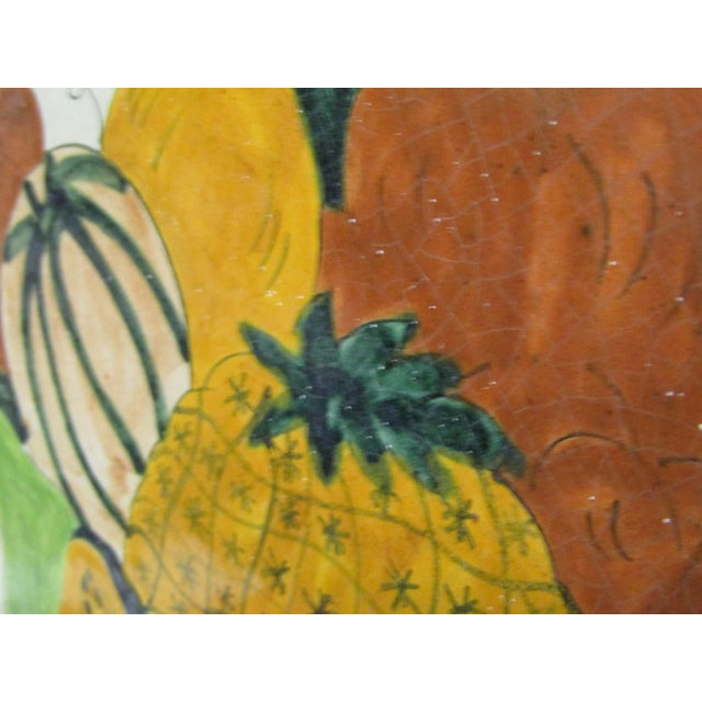 Vintage Hand-Painted Square Fruit Tile - Image 5 of 6