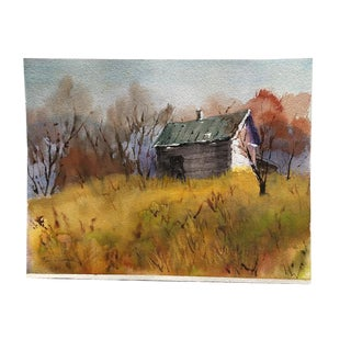 American Watercolor Landscape Painting For Sale