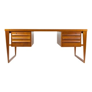 1950s Danish Modern Kai Kristiansen Teak Writing Desk For Sale