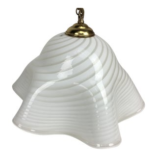 Vetri Murano Scalloped Hanging Chandelier Lamp For Sale