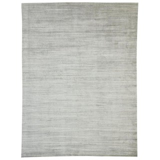 Transitional Gray Area Rug - 9′ × 12′ For Sale