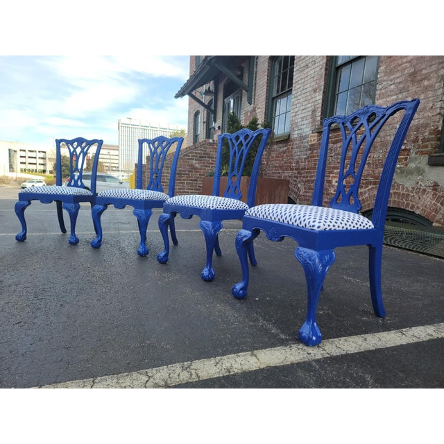 1980s Drexel Heritage Chippendale Chairs - Set of 4 For Sale - Image 10 of 12