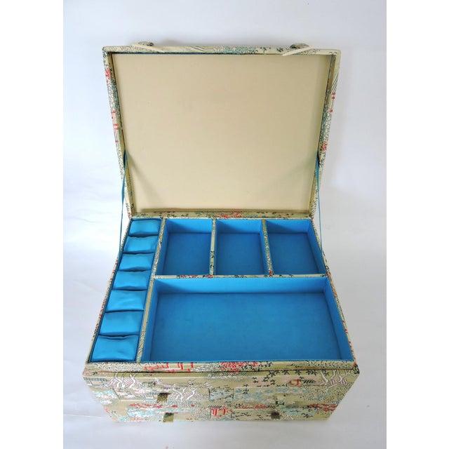 Oriental Brocade Jewelry Box - Image 2 of 5