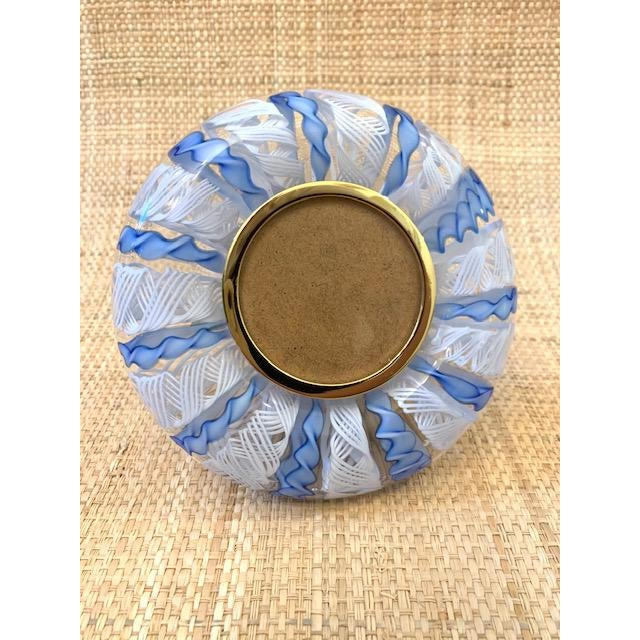 Blue Mid Century Murano Italian Blue Ribbons Frame For Sale - Image 8 of 8