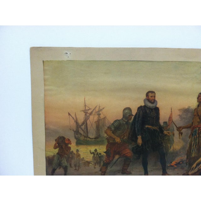 """American Mounted, Vintage Color Print, """"The Offering"""" For Sale - Image 3 of 4"""