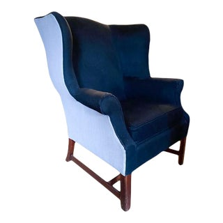 1940's Wingback Chair in a Modern Upholstery For Sale