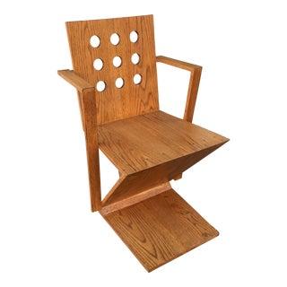 1970s Vintage Gerrit Rietveld Arm Chair For Sale