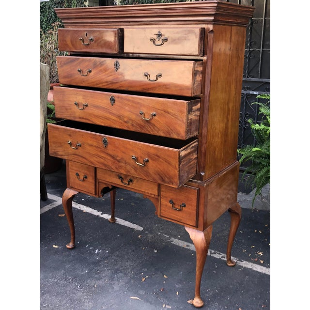 Wood Antique Mid 18th C George II Mahogany Chest on Stand For Sale - Image 7 of 7