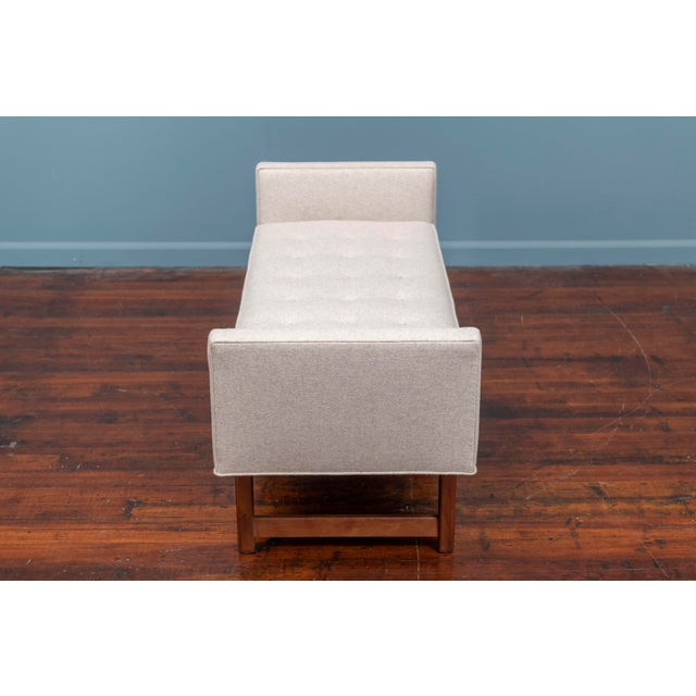 Wood Mid-Century Modern Upholstered Bench by Selig For Sale - Image 7 of 8