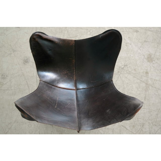 Animal Skin William Katavolos Leather Sling Chair and Ottoman for Leathercraft For Sale - Image 7 of 8
