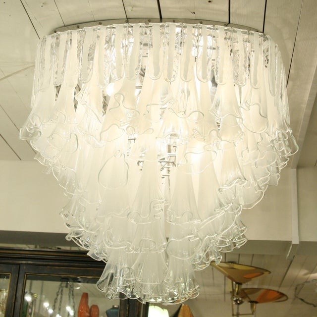 Italian Rare Venini Plafonnier Light For Sale - Image 3 of 4