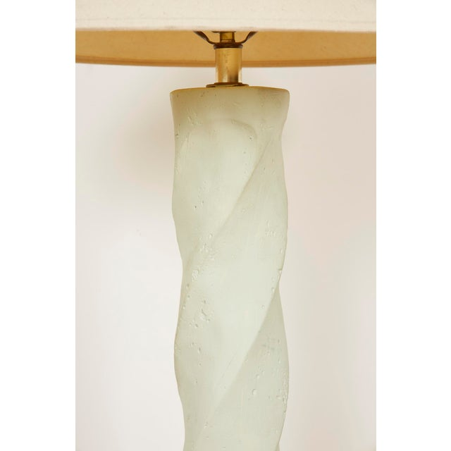 1980s 1980s Michael Taylor Style Spiral Plaster Floor Lamp For Sale - Image 5 of 13