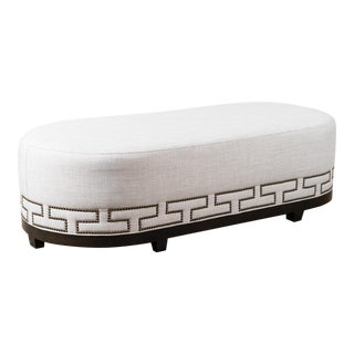 Greek Key Upholstered Bench For Sale