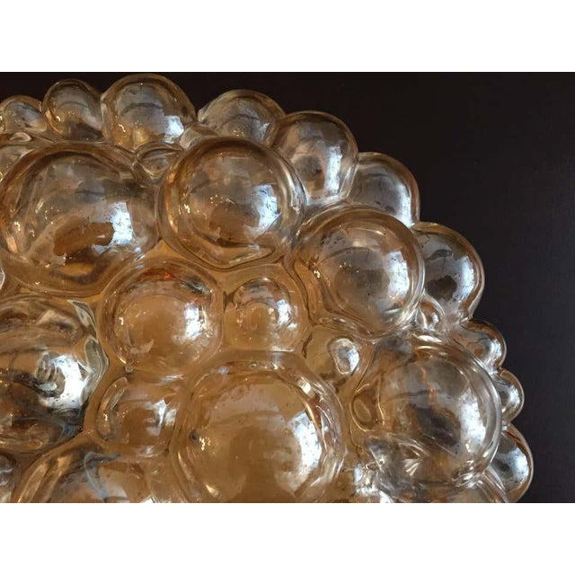 Metal 1960s Helena Tynell Limburg Bubble Glass Flush Light For Sale - Image 7 of 8