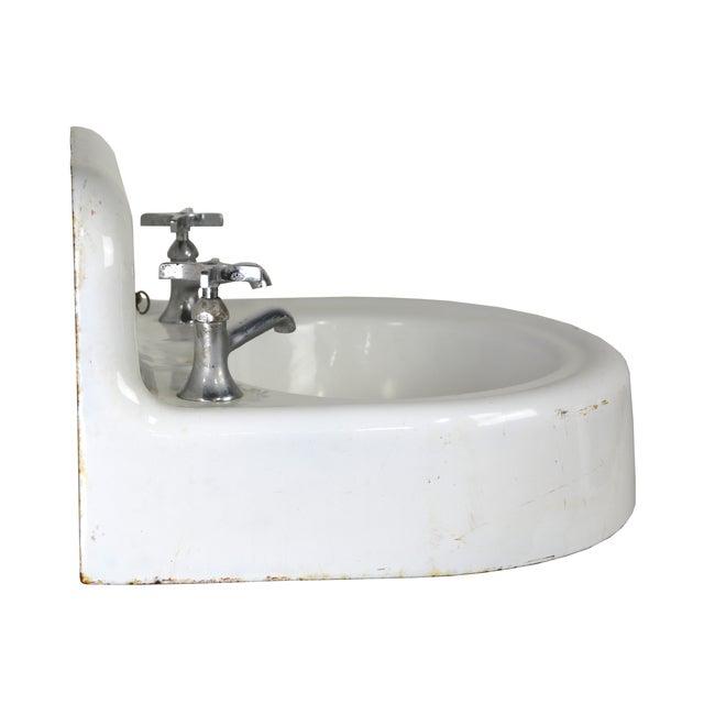 Cottage Kohler Vintage Cast Iron Enamel Sink For Sale - Image 3 of 4