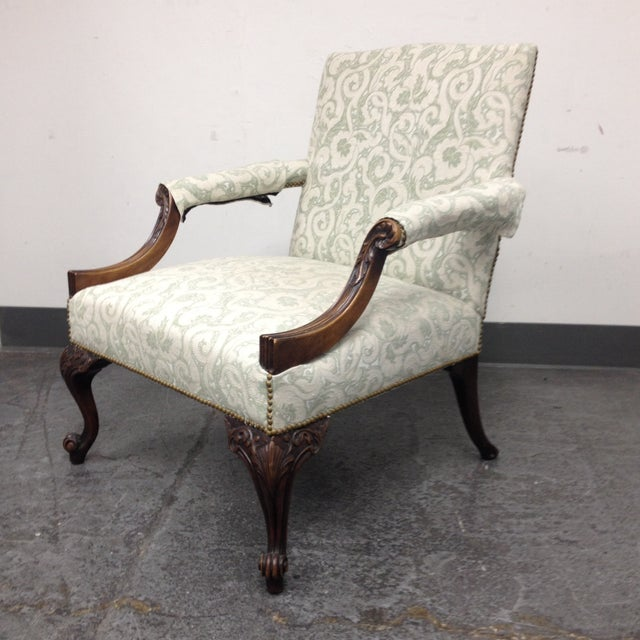 Mahogany Armchair With Nail Heads - Image 3 of 8