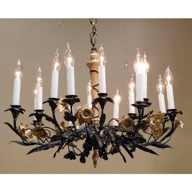 Neoclassical Neoclassical Style Foliate 14-Light Chandelier, France Circa 1905 For Sale - Image 3 of 9