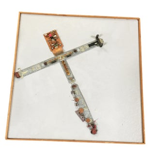 "Abstract ""Stations of the Cross"" Untitled 4 Artography Wall Sculpture by Pasqual Bettio For Sale"