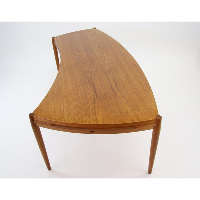 Johannes Andersen for Trensum Teak Curved Coffee Table ...