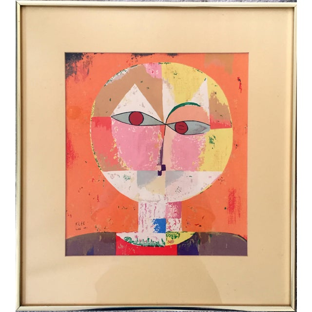"""A fantastic art print of Paul Klee's celebrated 1922 Cubist style """"Senecio: Head of Man."""" Professional quality framing in..."""