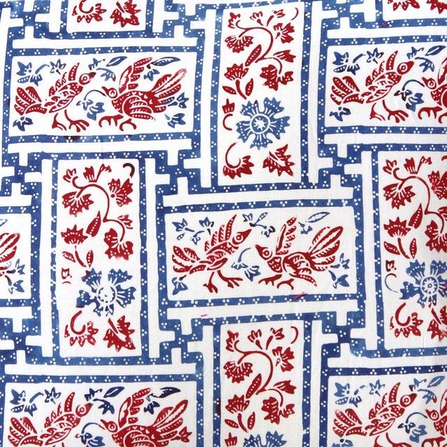 "Indigo & Red Chinoiserie Pillowcase ""Love Birds"" - Image 5 of 8"