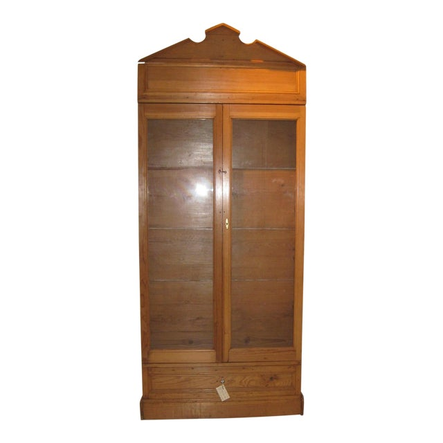 1900s Mexican Style Display Cabinet For Sale
