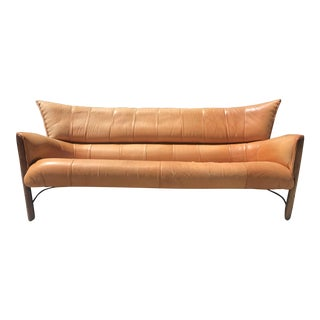 Pacific Green Leather Moorea Sofa