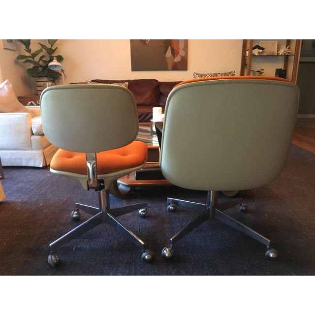 Vintage Steelcase Office Chairs - A Pair For Sale - Image 5 of 7