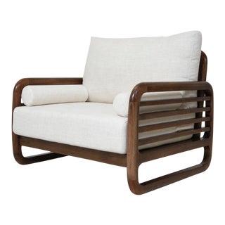 Bauhaus Modern Walnut Lounge Chair For Sale