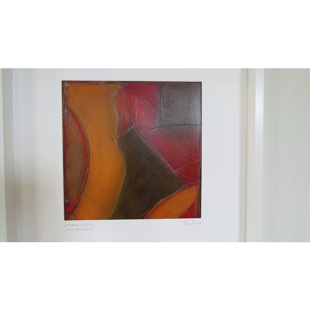 Atmospheres, Orange/Red Framed Painting - Image 6 of 9