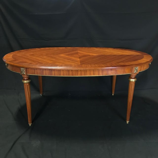 Mid 19th Century Louis XVI Style Oval Fruitwood Dining Table For Sale - Image 4 of 12