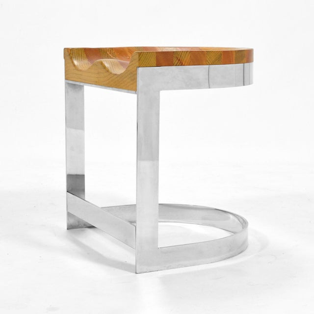 1970s Warren Bacon Low Stool For Sale - Image 5 of 10