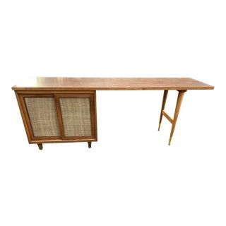 Vintage Mid Century Modern Wooden Credenza For Sale