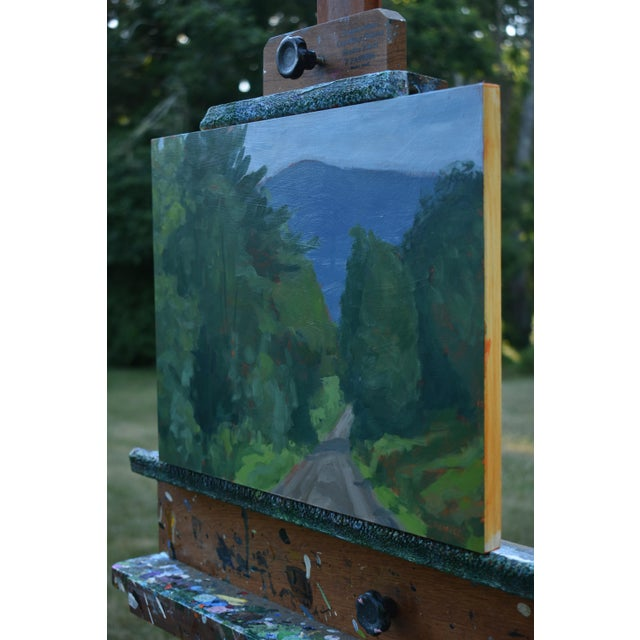 """Stephen Remick Stephen Remick """"Vermont Gravel Road With Blue Mountain"""" Contemporary 2010s Landscape Painting For Sale - Image 4 of 10"""